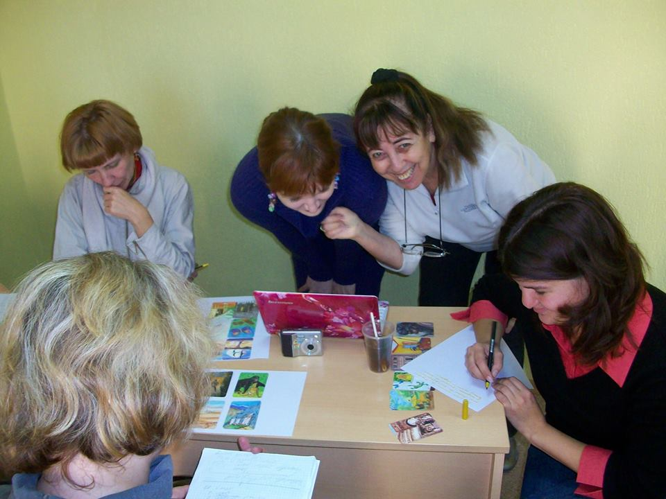 Therapy cards workshop, Minsk 2014